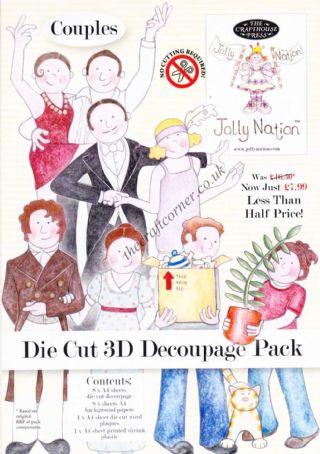 Jolly Nation Couples Die Cut 3d Decoupage Pack
